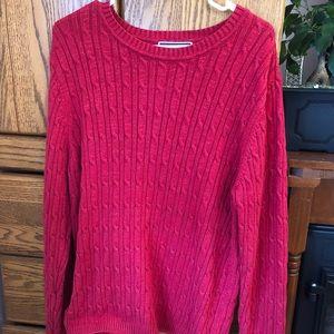Karen Scott Red Sparkling Knit Sweater